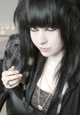 Emo Black Haircuts With Long Hairstyles