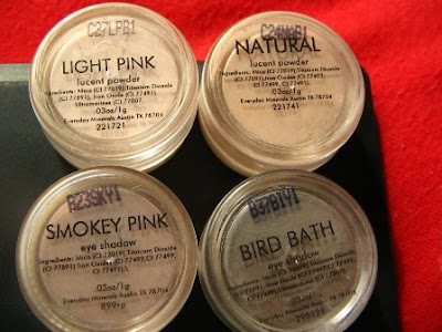 swatches light pink lucent podwer natural eyeshadow smokey pink bird bath