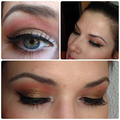 A prom look using barry m eyeshadow called Rust, number 25