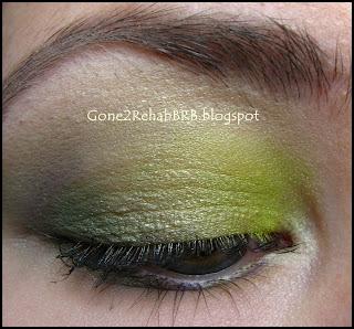 BellaPierre Lucky mineral green eyeshadow look