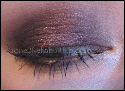 Purple smokey eyes using sweetscents minerals Midnight Burgundy eyeshadow