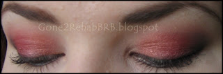 a red eyeshadow Look using Sleek Sunset Storm and original palettes