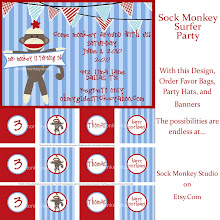 Sock Monkey Vintage Party