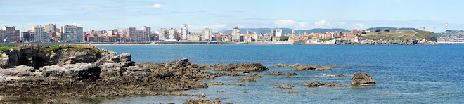 panoramica de la playa de gijon