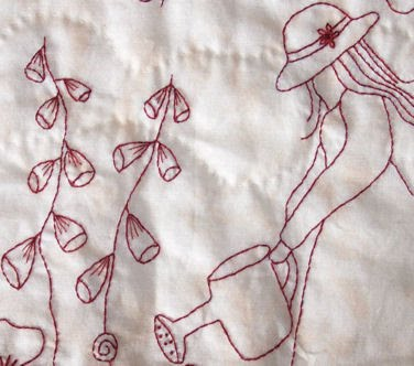 Redwork Embroidery Quilt Patterns Free Quilt Pattern