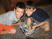 Braden & Jacob & our cat, Lego