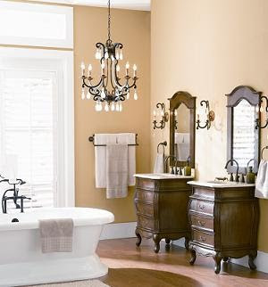 if you are looking to upgrade your bathroom with rich vintage style