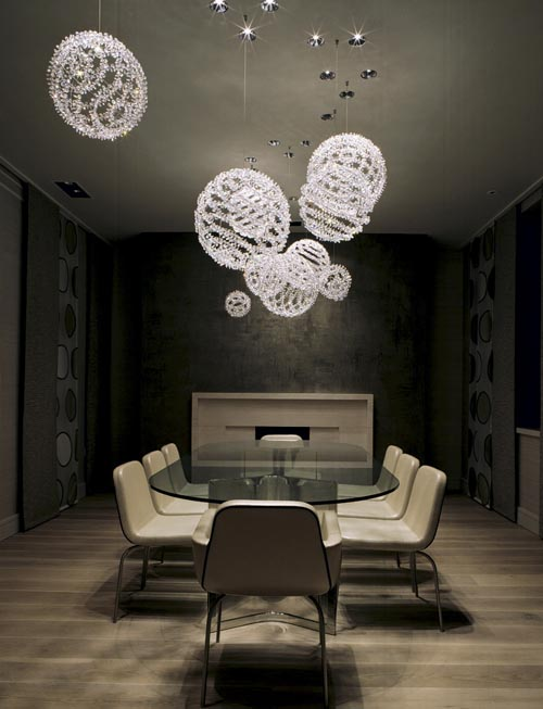 moura starr 39 s hell bob chandelier is composed of sparkling s pheres of