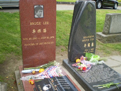 Bruce and Brandon Lee's gravesite at Lakeview Cemetery, Seattle