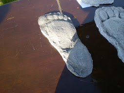 Footprint Cast from the P/G Film with Mid-Tarsal Break signed by Bob Gimlin