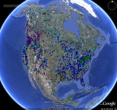 Distribution of Sasquatch sightings since 1967