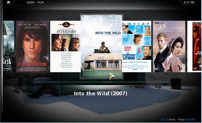 Las películas se pueden ver a traves de listas o mostrando los posters de las mismas