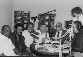 FOTOGRAFIA DEL RECUERDO AQUI: ALBERTO BELTRÁN, CELIO GONZALES, DON ROGELIO MARTINEZ Y NELSON PINEDO