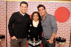 MANU TENORIO,LOLITA Y JOSEPH LOBATO ( EL CONDUCTOR DEL PROGRAMA DE TV )