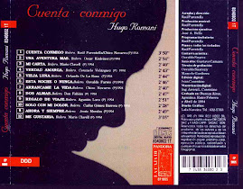 "PORTADA DEL DISCO "" CUENTA CONMIGO "" DE :  HUGO ROMANI"