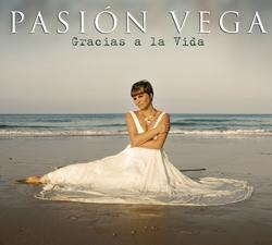 """Portada del Disco de Pasión Vega """" Gracias a la Vida """""""