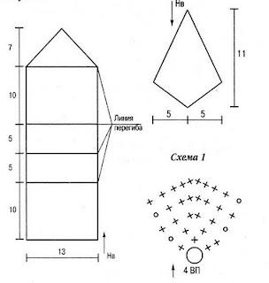 схемы вязания сумки