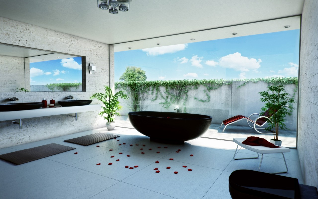 Free wallpicz wallpaper desktop relaxing - Salle de bain de luxe moderne ...