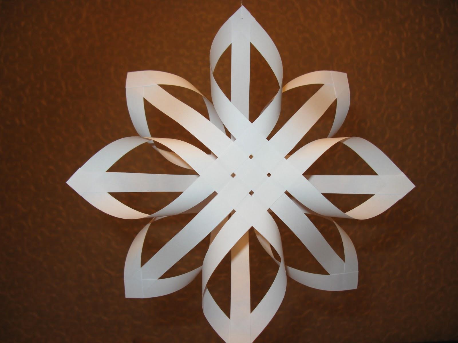 Объемная снежинка с пошаговым фото