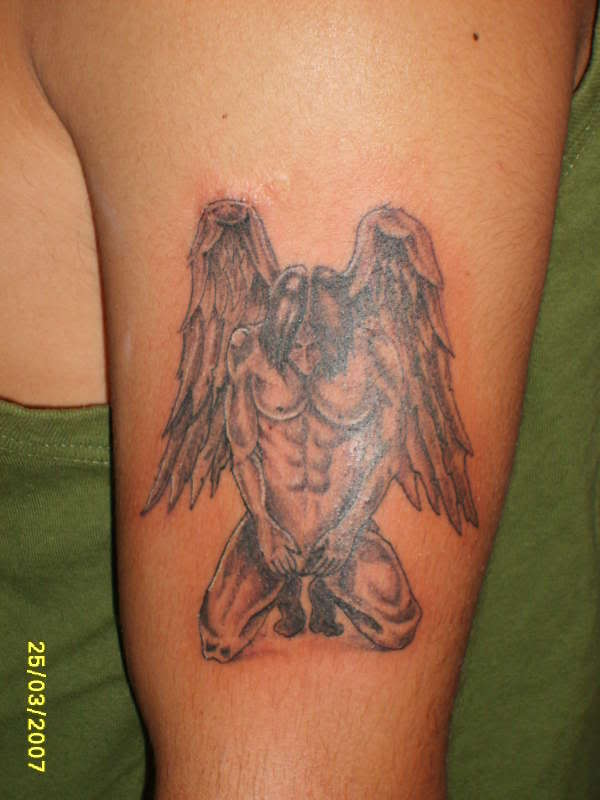 I want a fallen angel tattoo I think that tattoo shows my character.