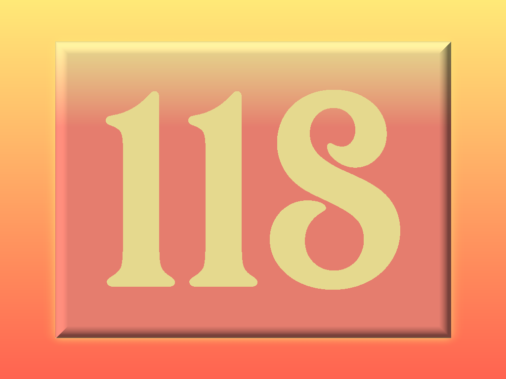 Numbers: Number 118
