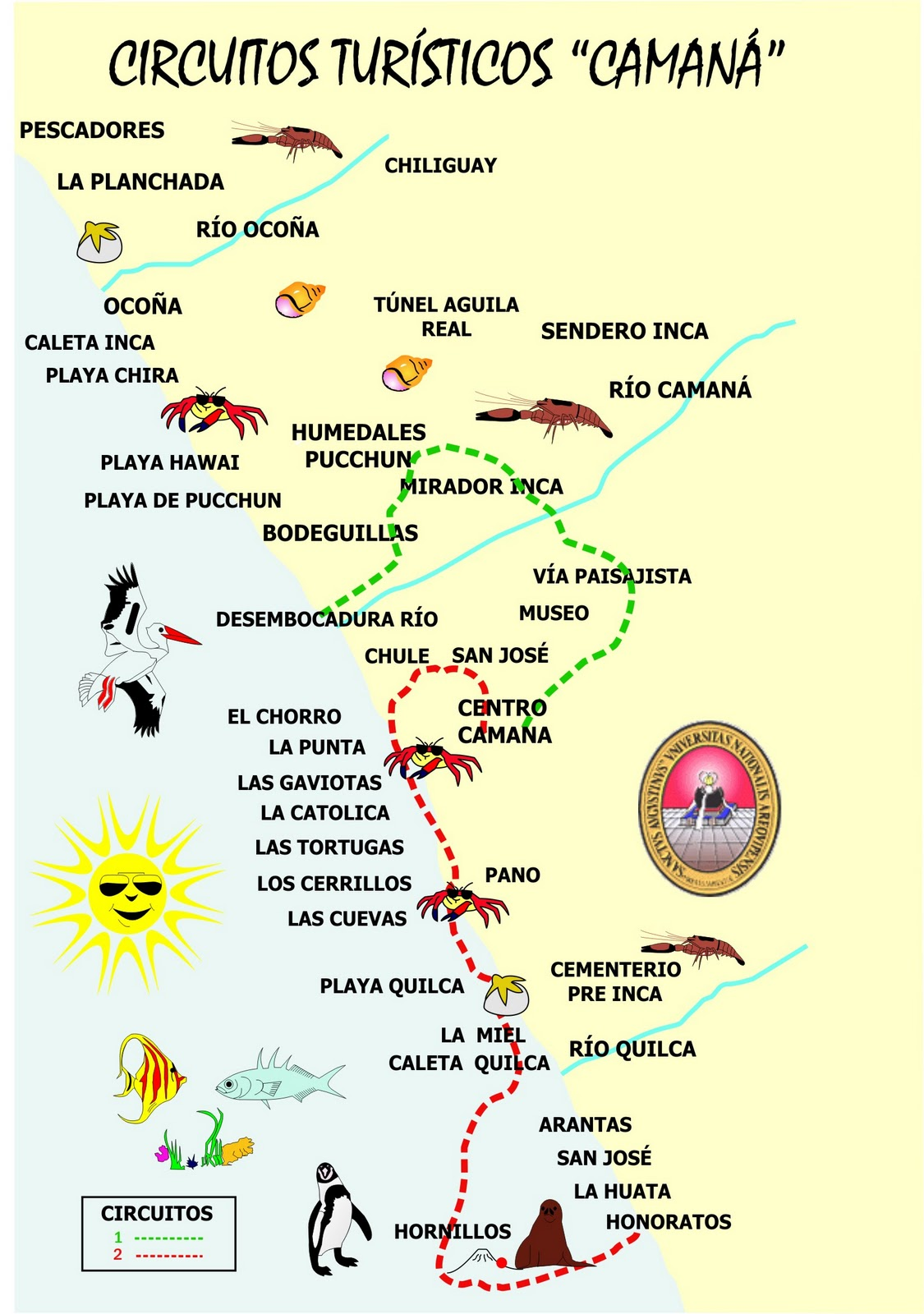 Circuito Turistico Ayacucho : Percy eliseo circuito turístico de camaná