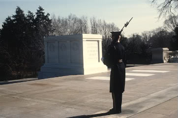 Tomb of the Unknowns, Arlington National Cemetery. Photo by Department of Defense