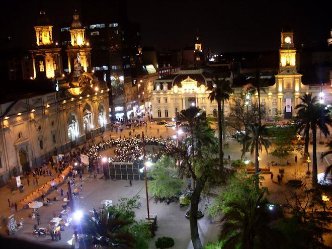 La Plaza de Armas de Santiago du Chili