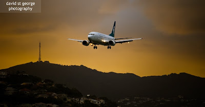 Air New Zealand Boeing 737 David St George Photography Wellington