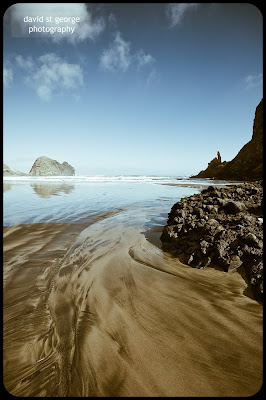 Piha Beach New Zealand David St George Photography