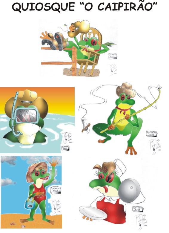 Mascotes para quiosque de praia