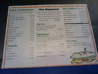 Paper Menu Affixed To Counter