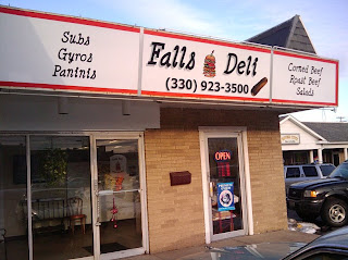 Storefront of Falls Deli