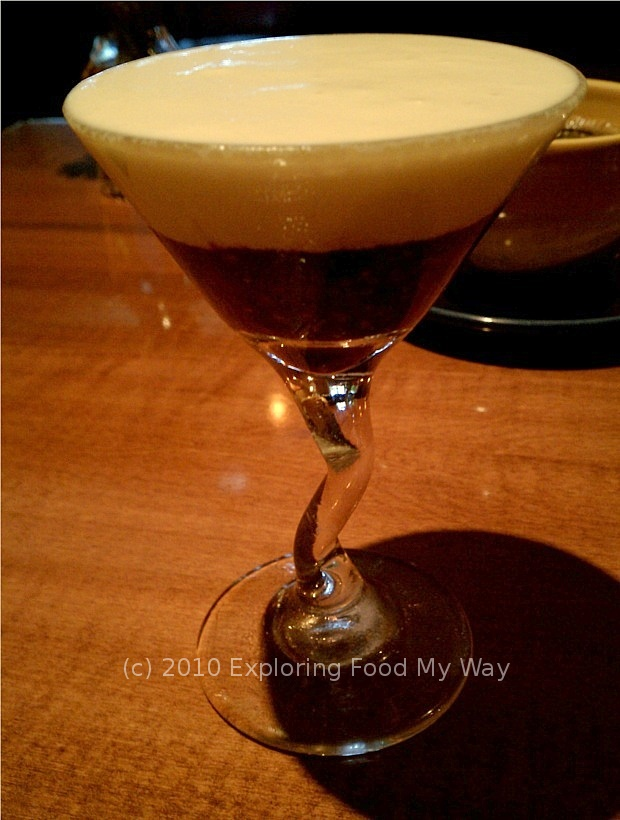Exploring food my way satisfying the craving bistro on main for Mini martini glass dessert recipes