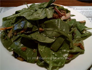 Half Portion of Spinach Salad