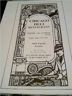 Chicago Deli's Menu Page 1