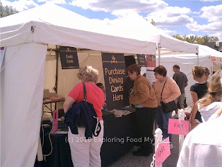 Booth Selling Dining Cards