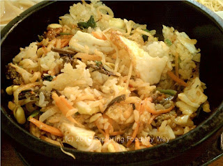 Dolsot Bibimbap with Stirred Contents
