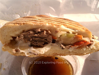 Side Shot of Italian Roast Beef Panini