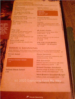 Arnie's Steak House Menu Page 4