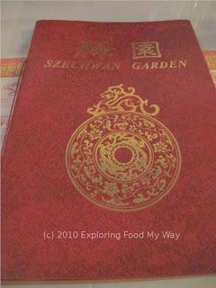 Szechwan Garden's Menu Cover