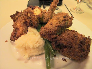 Buttermilk-soaked Pecan Fried Chicken Platter