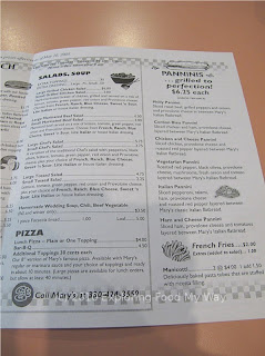 Mary's Pizza Shop Menu Page 3