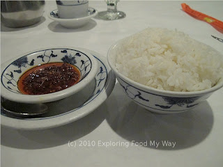 Steamed Rice and Chili Oil