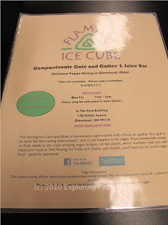 Flaming Ice Cube's Menu Page 1