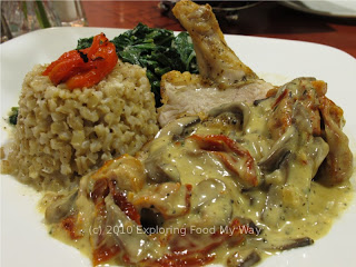 Bell and Evans Roasted Chicken with Barley Risotto Angle 2