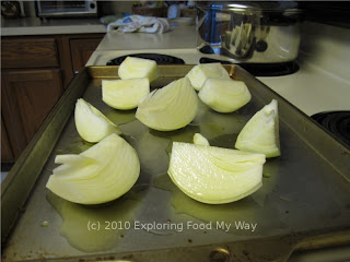 Quartered and Oiled Onions