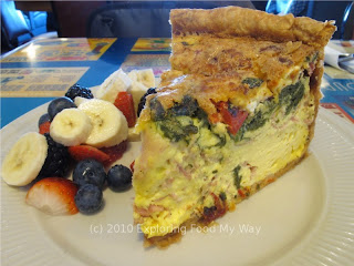 Quiche du Jour with Fresh Fruit Angle 1