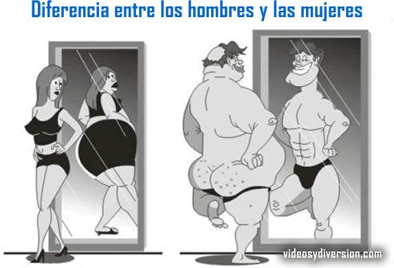 Diferencia entre el hombra y la mujer!!