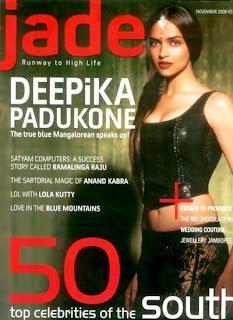 Deepika Padukone - Jade Magazine Cover Page